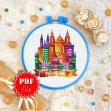 Cross stitch pattern «pdf-T-0432 Prague»