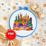 Cross stitch pattern «pdf-T-0442 Germany»