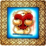 Magnet bead embroidery kit «M-0001 Teddy Bear with a Big Heart»