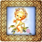 Magnet bead embroidery kit «M-0041 Baby Angel»