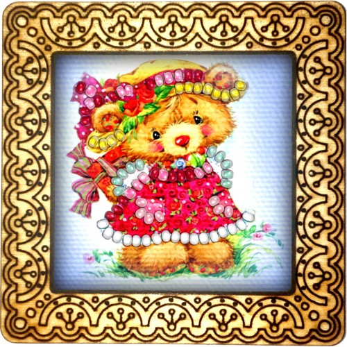 Magnet bead embroidery kit «M-0051 The Red Dress»