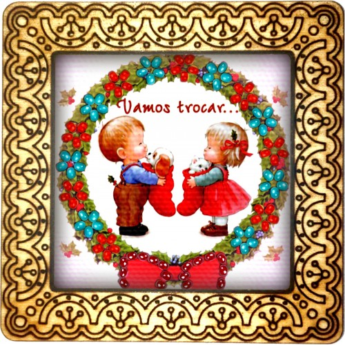 Magnet bead embroidery kit «M-0071 Christmas Wreath»