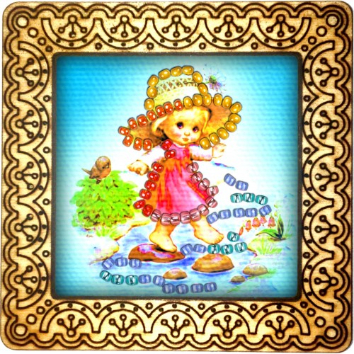 Magnet bead embroidery kit «M-0081 Taking A Walk»