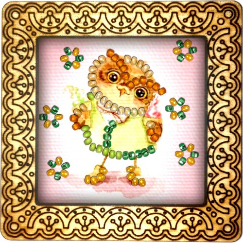 Magnet bead embroidery kit «M-0091 Wise Owl»