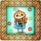Magnet bead embroidery kit «M-0111 Owl Schoolgirl»