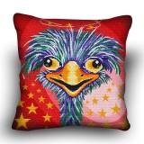 Pillow cross stitch kit «H-0008 Oddish Ostrich»