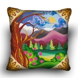 Pillow cross stitch kit «H-0018 Moonlit Forest»