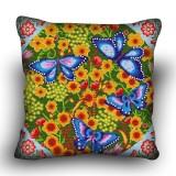Pillow cross stitch kit «H-0028 Beloved Butterflies»