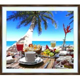 Bead embroidery kit «A-0023 Tropical Breakfast View»