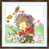 Bead embroidery kit «A-0033 Delighted Gardner»
