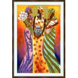 Bead embroidery kit «A-0064 Colorful African Women»