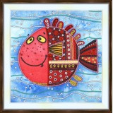 Bead embroidery kit «A-0074 Red Fish»