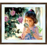 Bead embroidery kit «A-0144 Studying Herself Carefully»