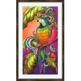 Bead embroidery kit «A-0184 Flamboyant Parrot»