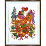 Bead embroidery kit «A-0214 Cock-a-doodle-doo»