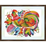 Bead embroidery kit «A-0234 Colorful Rooster»