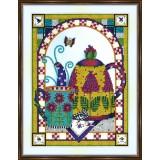 Bead embroidery kit «A-0325 Tea Repast 2»