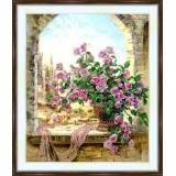 Bead embroidery kit «A-0385 Roses in the Window»