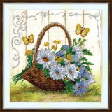 Bead embroidery kit «A-0405 Butterflies Love Chamomile»