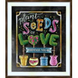 Bead embroidery kit «A-0415 Seeds of Love»