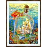 Bead embroidery kit «A-0435 City in a Bottle»