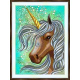 Bead embroidery kit «A-0455 Sweet Faced Unicorn»