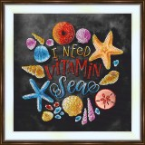 Bead embroidery kit «A-0469 I Need Vitamin Sea»