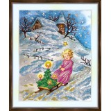 Bead embroidery kit «A-0479 Fetching the Tree»