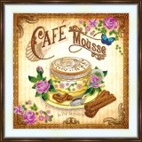 Bead embroidery kit «A-0499 Cappuccino Yum»