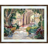 Bead embroidery kit «K-0003 Arches in the Garden»