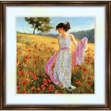Bead embroidery kit «K-0053 Strolling in the Poppies»