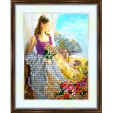 Bead embroidery kit «K-0063 She Loves Flowers»