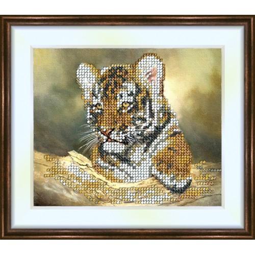 Bead embroidery kit «K-0083 Tiger Cub»