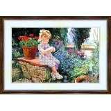 Bead embroidery kit «K-0093 Sitting on the Porch»