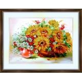 Bead embroidery kit «K-0103 Wildflowers 5»