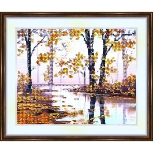 Bead embroidery kit «K-0123 Autumn Landscape»