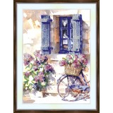 Bead embroidery kit «K-0143 Window in the Village»