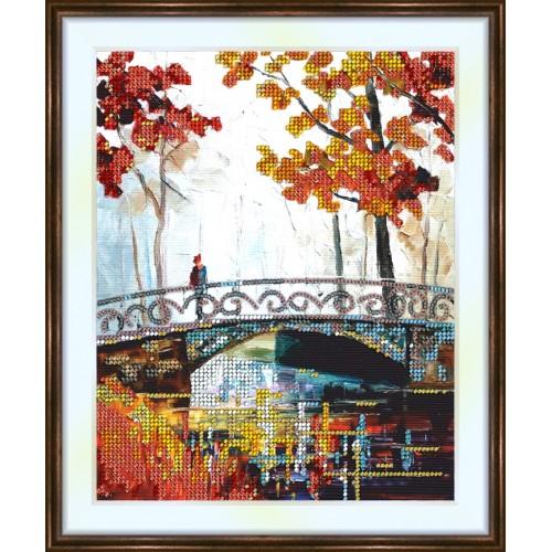 Bead embroidery kit «K-0154 The Bridge in Autumn»