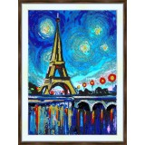 Bead embroidery kit «K-0194 Paris Night»