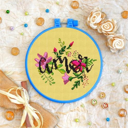 Cross stitch kit «T-0019 Amor»