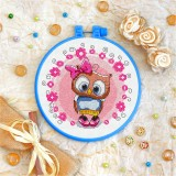 Cross stitch kit «T-0029 Miss Owl»