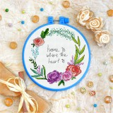 Cross stitch kit «T-0069 Home is Where the Heart Is»