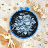 Cross stitch kit «T-0139 Blue Roses»