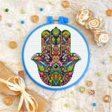 Cross stitch kit «T-0205 Mandala Hamsa»