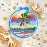 Cross stitch kit «T-0228 Palm Tree Seaview»
