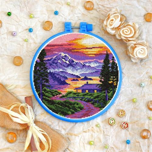 Cross stitch kit «T-0334 Mountains Sunset»
