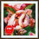 Cross stitch pattern «pdf-S-0004 Pink Flamingo»