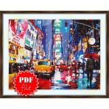 Cross stitch pattern «pdf-S-0035 Times Square»