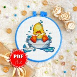 Cross stitch pattern «pdf-T-0004 The Bubble Bath»