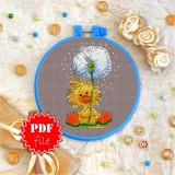 Cross stitch pattern «pdf-T-0054 Dandelion Duckling»
